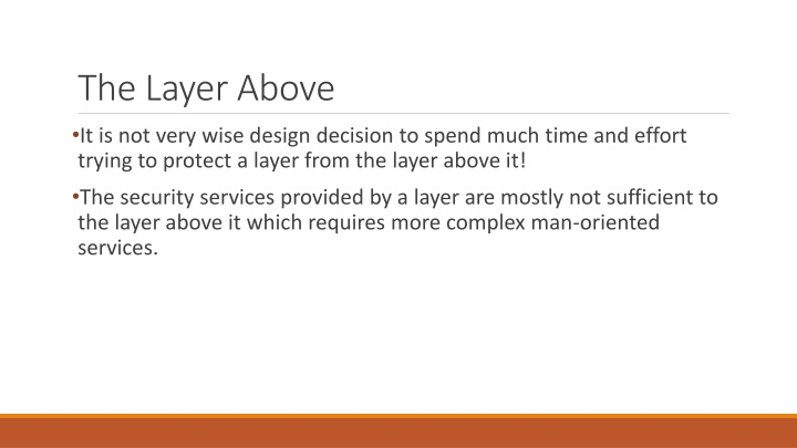 The Layer Above
