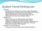 student tiered parking lots