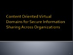 content oriented virtual domains for secure information sharing across organizations