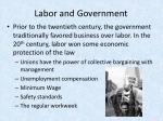 labor and government