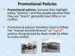 promotional policies
