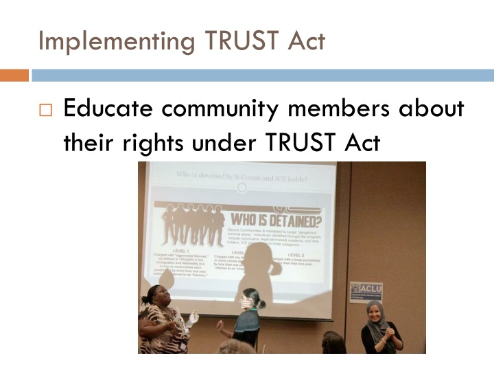 Implementing TRUST Act