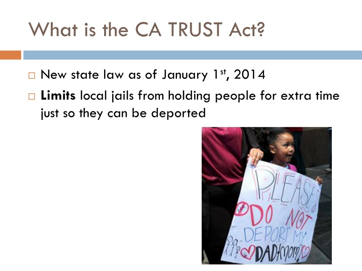 What is the ca trust act