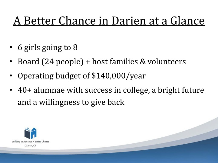 A better chance in darien at a glance