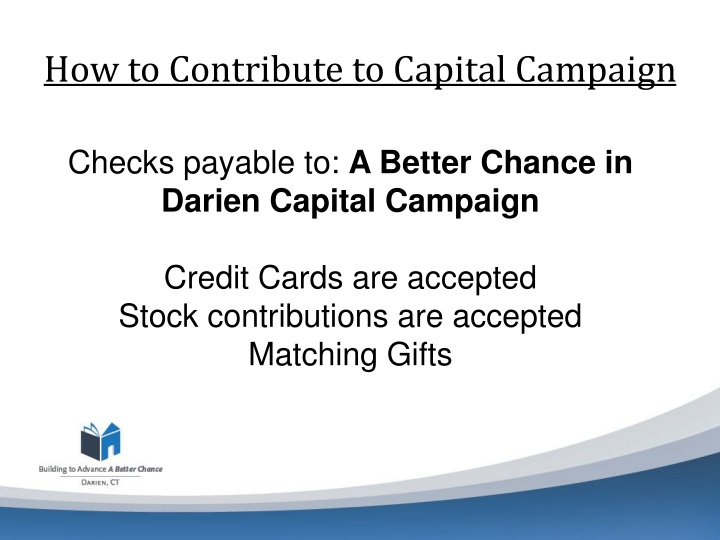 How to Contribute to Capital Campaign