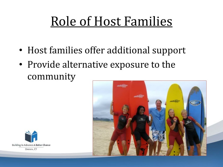 Role of Host Families