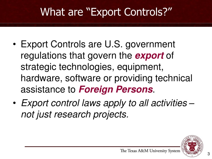What are export controls