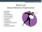 rhetorical moves patterns organization