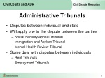 administrative tribunals