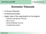 domestic tribunals