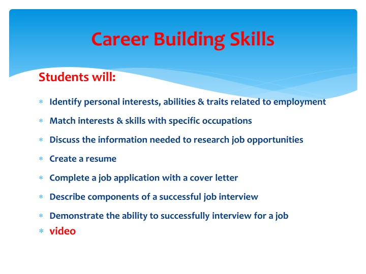 Career Building Skills