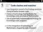 code clashes and matches