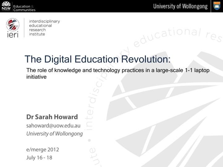 the digital education revolution