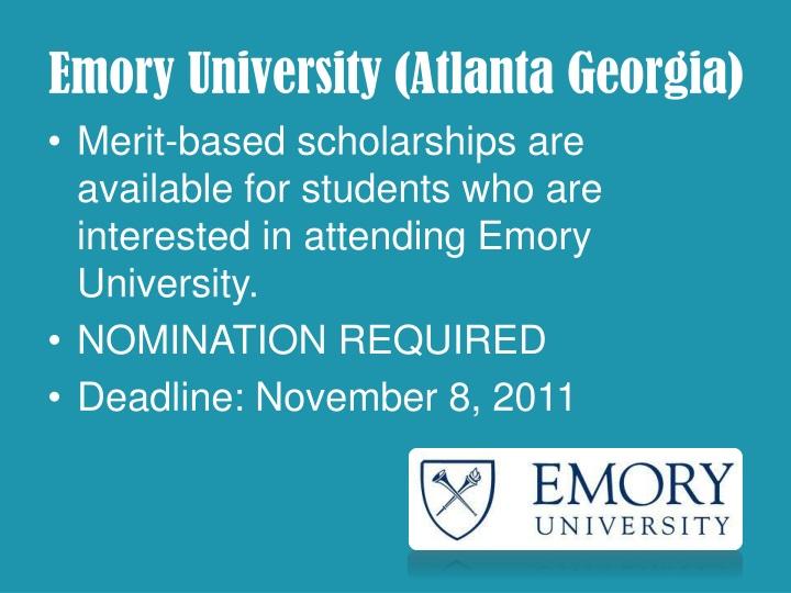 Emory University (Atlanta Georgia)