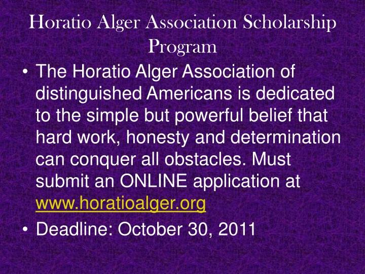 Horatio Alger Association Scholarship Program