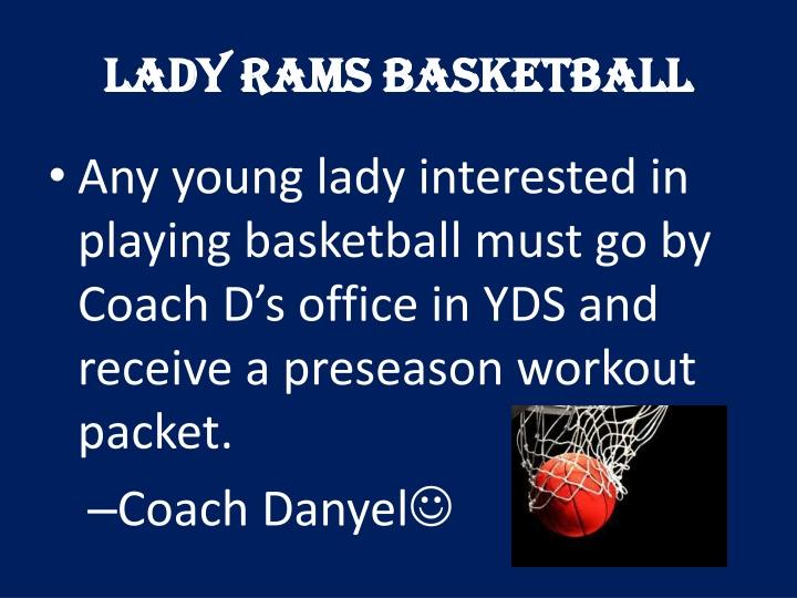Lady Rams Basketball