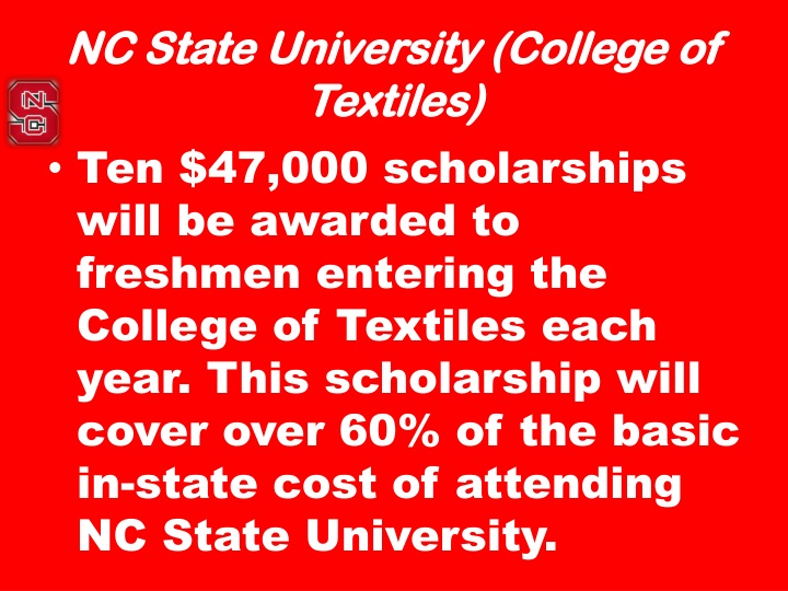 NC State University (College of Textiles)