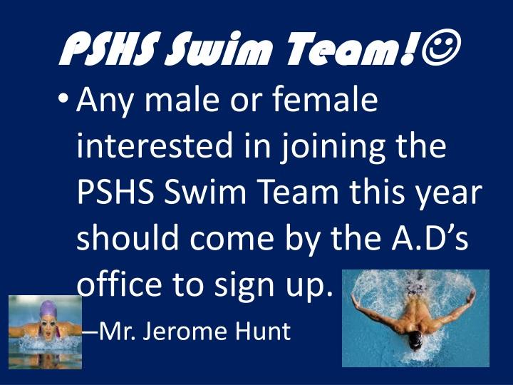 PSHS Swim Team!