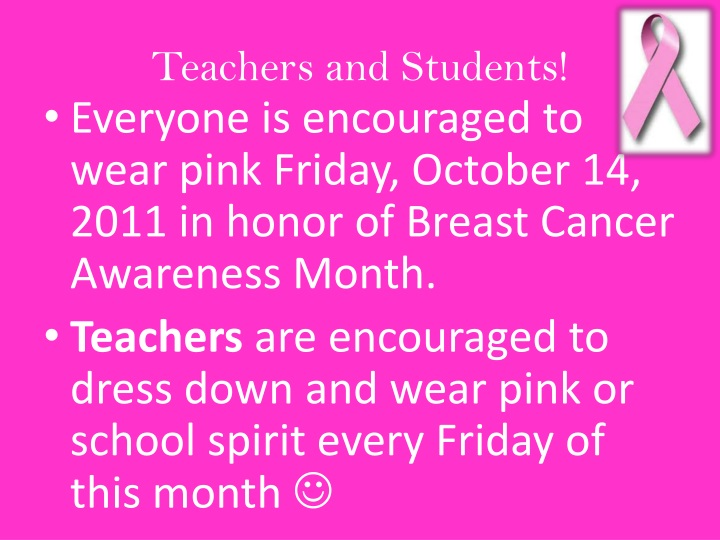 Teachers and Students!