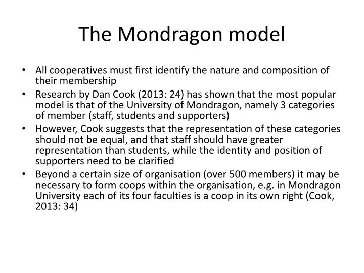 The Mondragon model