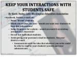 keep your interactions with students safe by kevin teeley lake washington education association
