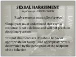 sexual harassment key concept unwelcomed
