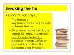 breaking the tie