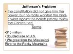 jefferson s problem