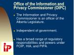 office of the information and privacy commissioner oipc