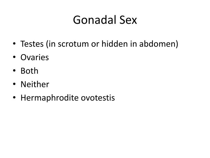 Gonadal Sex
