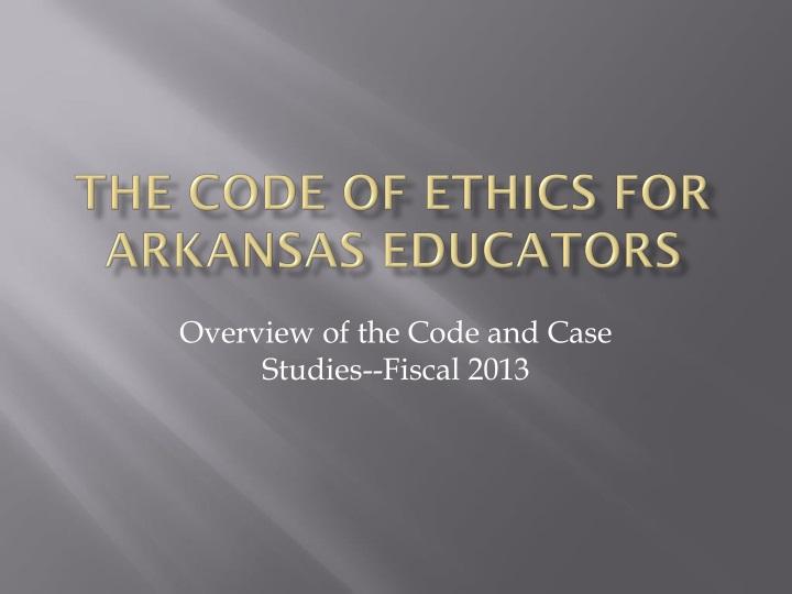 the code of ethics for arkansas educators n.