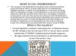 what is civil disobedience