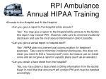 rpi ambulance annual hipaa training15