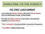 marketing to the elderly