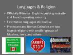 languages religion