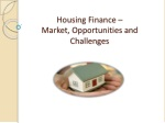 housing finance market opportunities and challenges