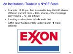 an institutional trade in a nyse stock1