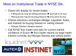 more on institutional trade in nyse stk
