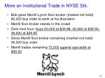 more on institutional trade in nyse stk3