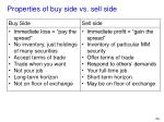 properties of buy side vs sell side