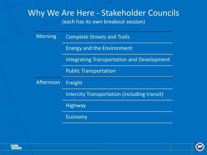 Why We Are Here - Stakeholder Councils