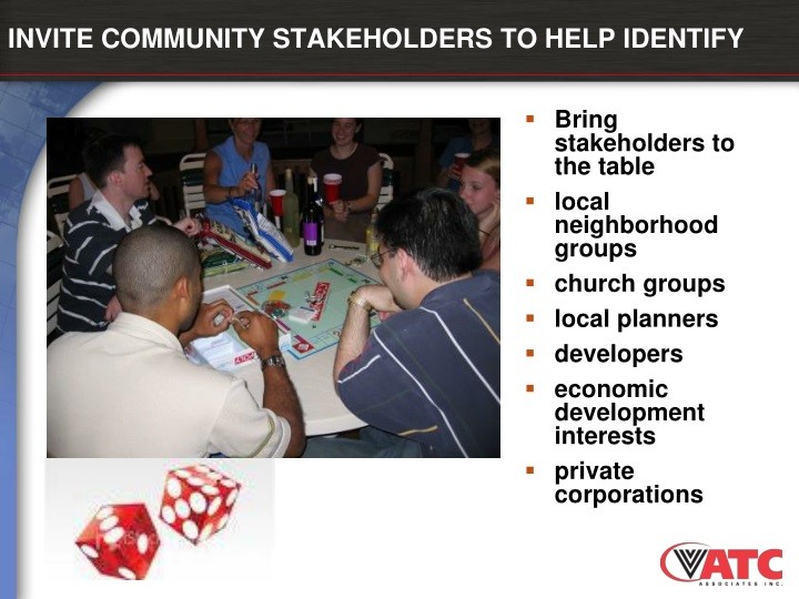 INVITE COMMUNITY STAKEHOLDERS TO HELP IDENTIFY