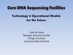 core dna sequencing facilities technology