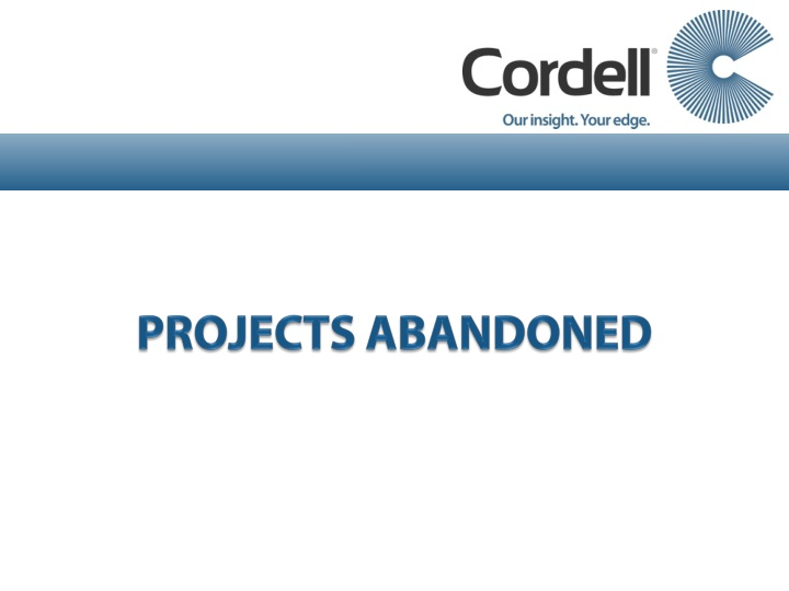 PROJECTS ABANDONED