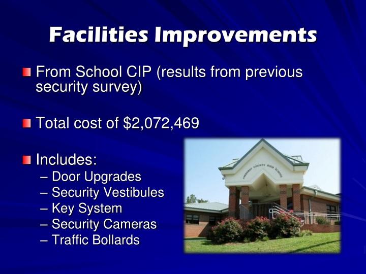 Facilities Improvements
