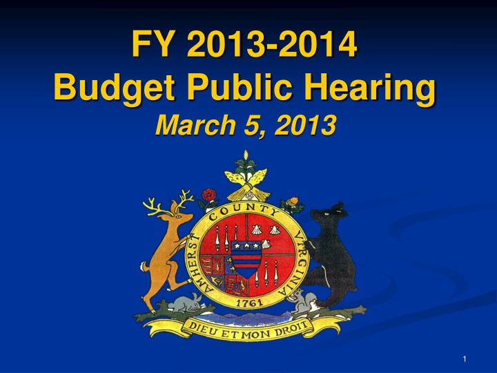 Fy 2013 2014 budget public hearing march 5 2013