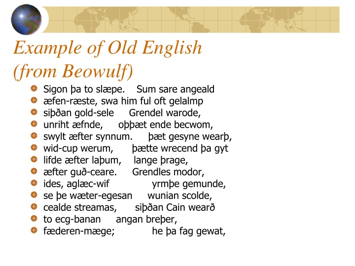 Example of Old English