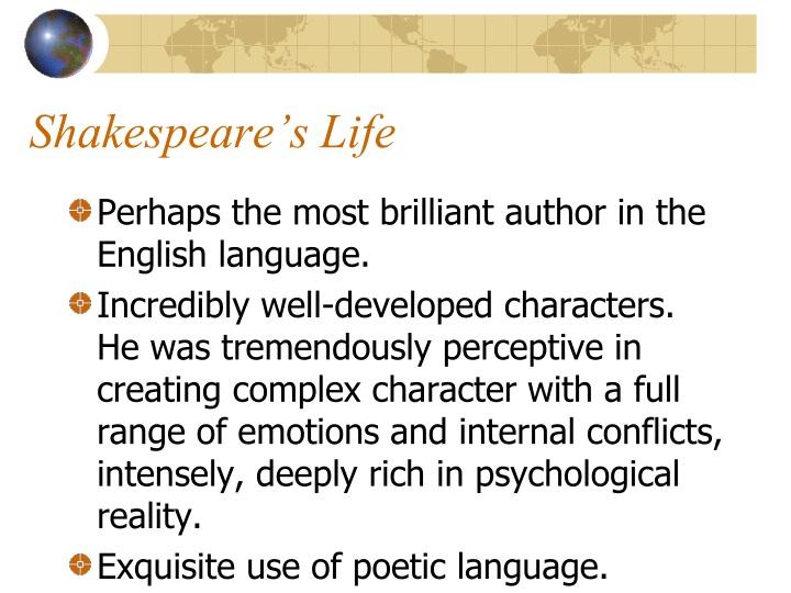Shakespeare s life