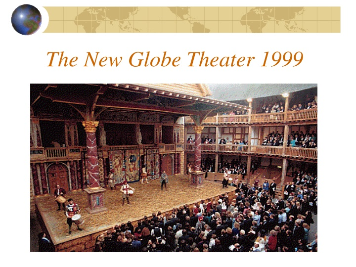 The New Globe Theater 1999