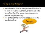 the lost years